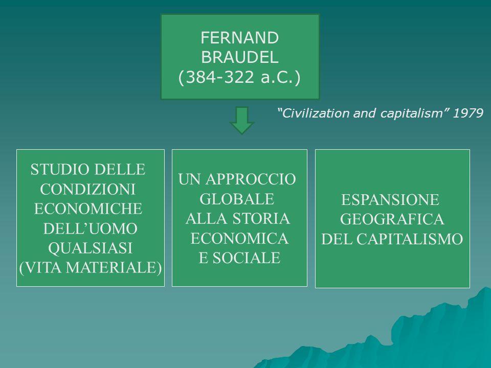 STUDIO DELLE CONDIZIONI ECONOMICHE DELLUOMO QUALSIASI (VITA MATERIALE) UN APPROCCIO GLOBALE ALLA STORIA ECONOMICA E SOCIALE ESPANSIONE GEOGRAFICA DEL