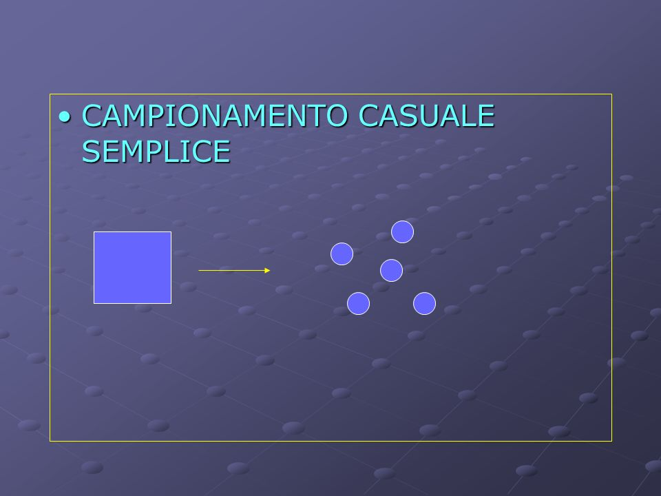 CAMPIONAMENTO CASUALE SEMPLICECAMPIONAMENTO CASUALE SEMPLICE