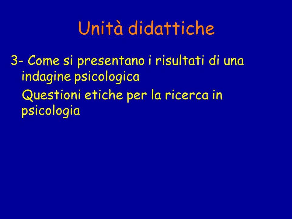 Testi desame A SCELTA TRA: McBurney, D.H.(2001): Metodologia della ricerca in psicologia.
