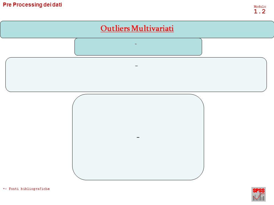 Pre Processing dei dati Modulo 1.2 -- - Outliers Multivariati - Fonti bibliografiche