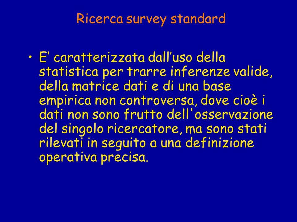 Gli strumenti di rilavazione dei dati Tipicamente sono due, lintervista e il questionario.