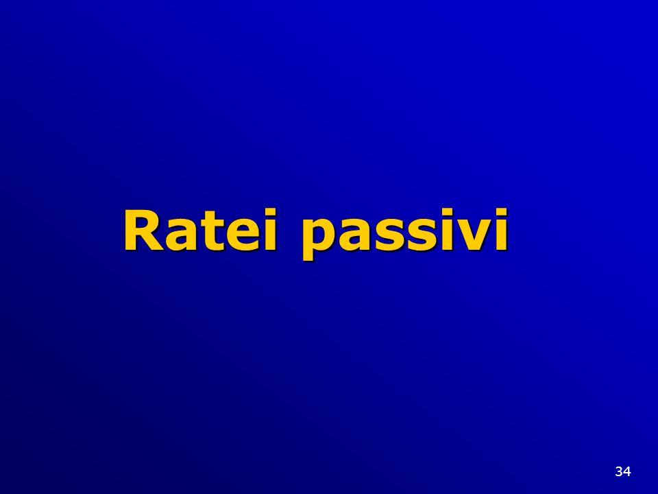 34 Ratei passivi