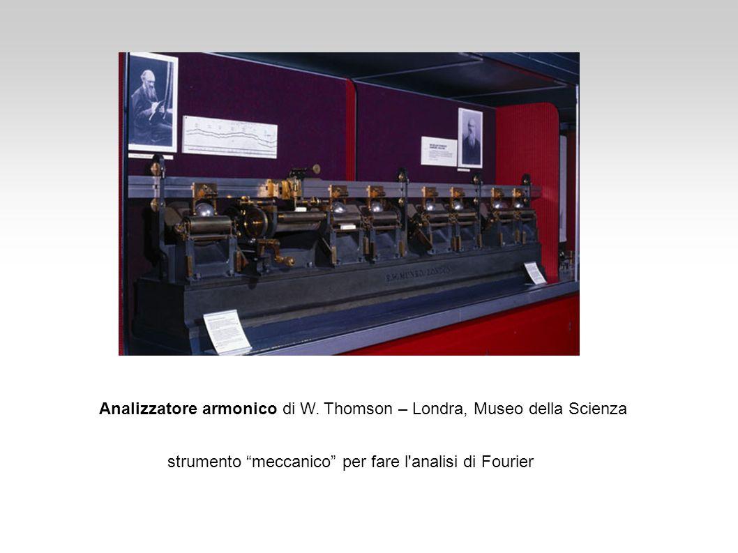 Analizzatore armonico di W. Thomson – Londra, Museo della Scienza strumento meccanico per fare l'analisi di Fourier