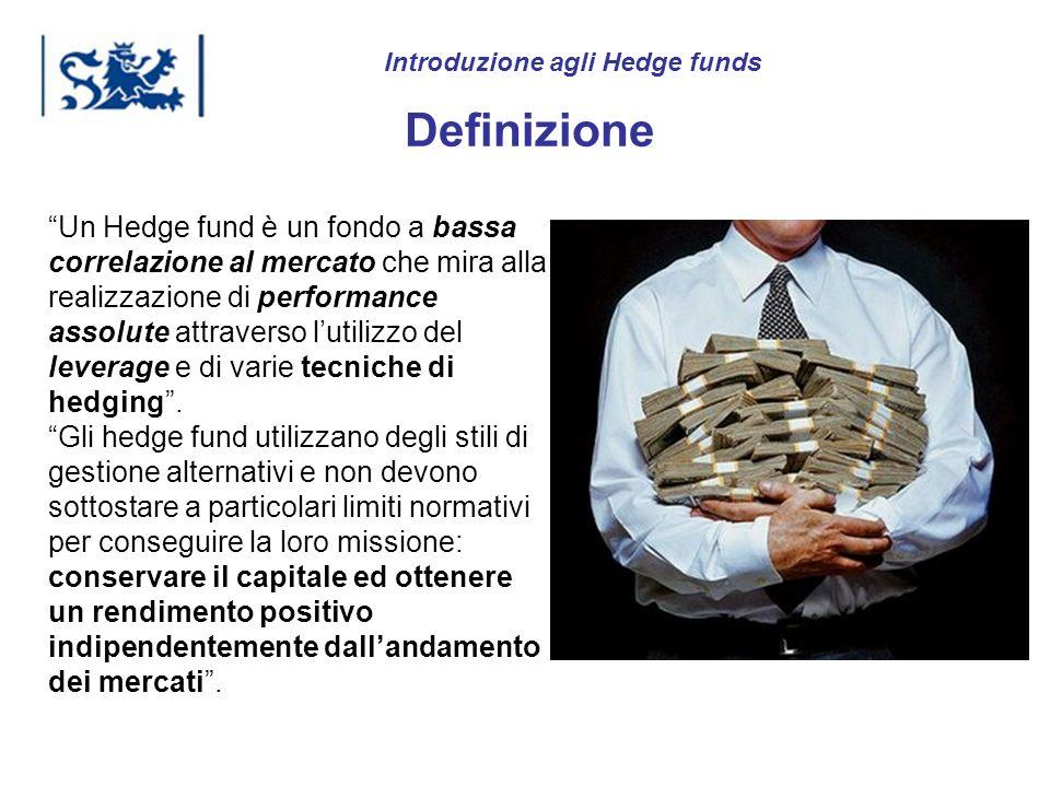 Luxembourg 03-2009 Introduzione agli Hedge funds Definizione Un Hedge fund è un fondo a bassa correlazione al mercato che mira alla realizzazione di p