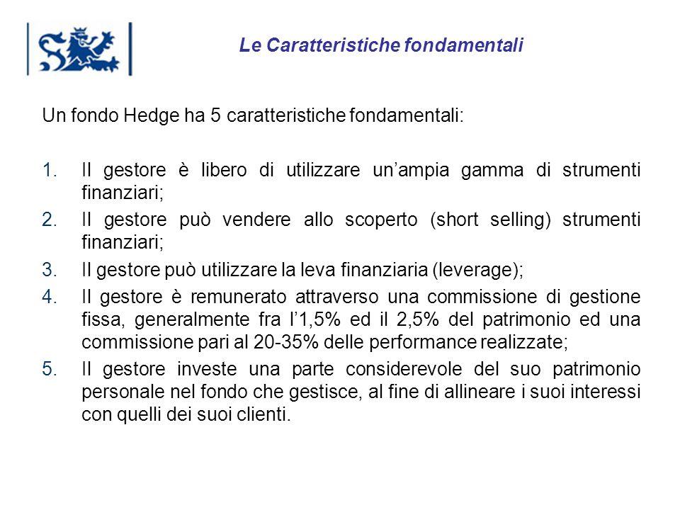 Luxembourg 03-2009 Un fondo Hedge ha 5 caratteristiche fondamentali: 1.Il gestore è libero di utilizzare unampia gamma di strumenti finanziari; 2.Il g