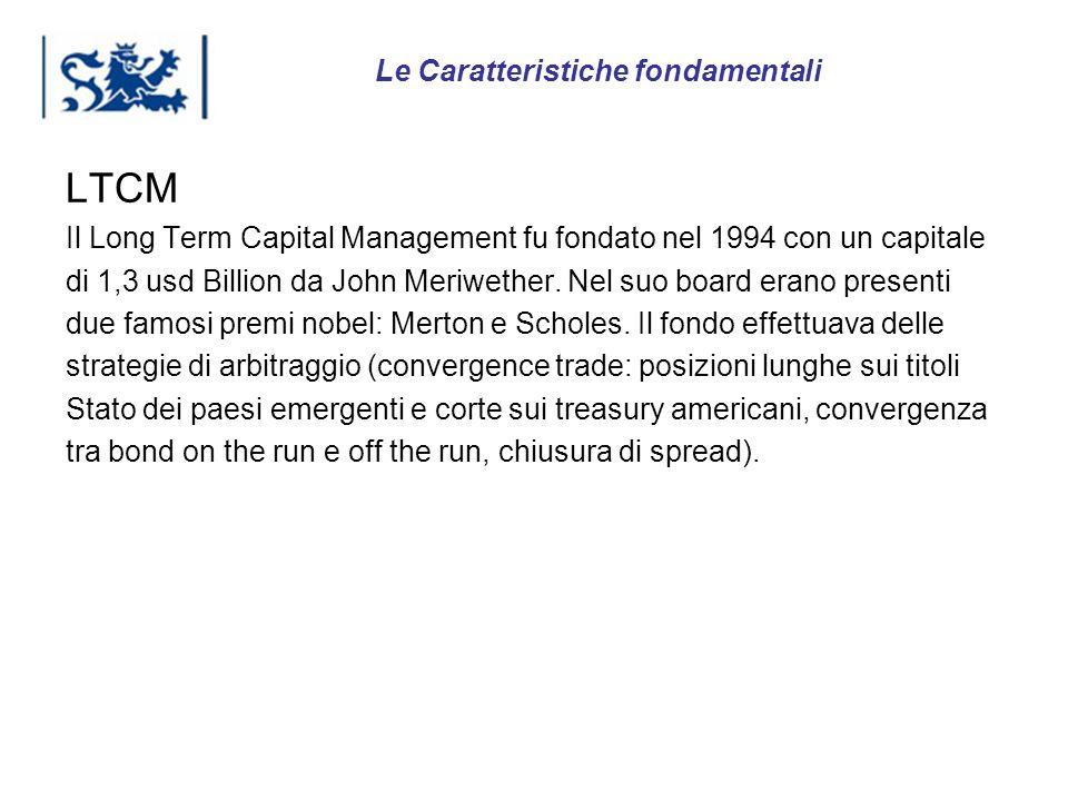 Luxembourg 03-2009 LTCM Il Long Term Capital Management fu fondato nel 1994 con un capitale di 1,3 usd Billion da John Meriwether. Nel suo board erano