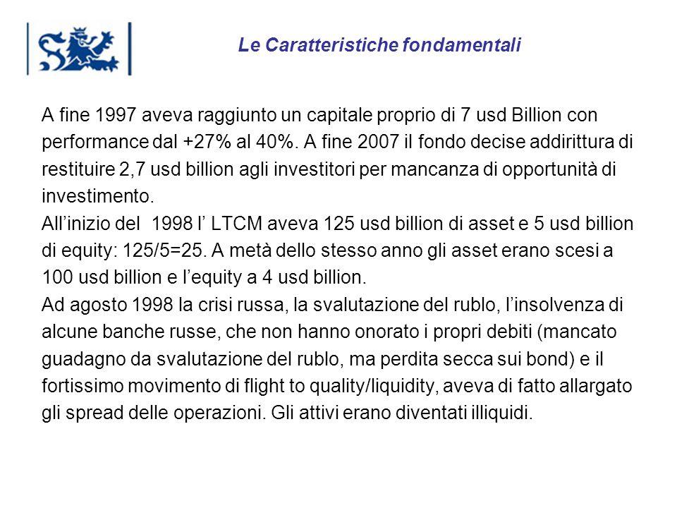 Luxembourg 03-2009 A fine 1997 aveva raggiunto un capitale proprio di 7 usd Billion con performance dal +27% al 40%. A fine 2007 il fondo decise addir