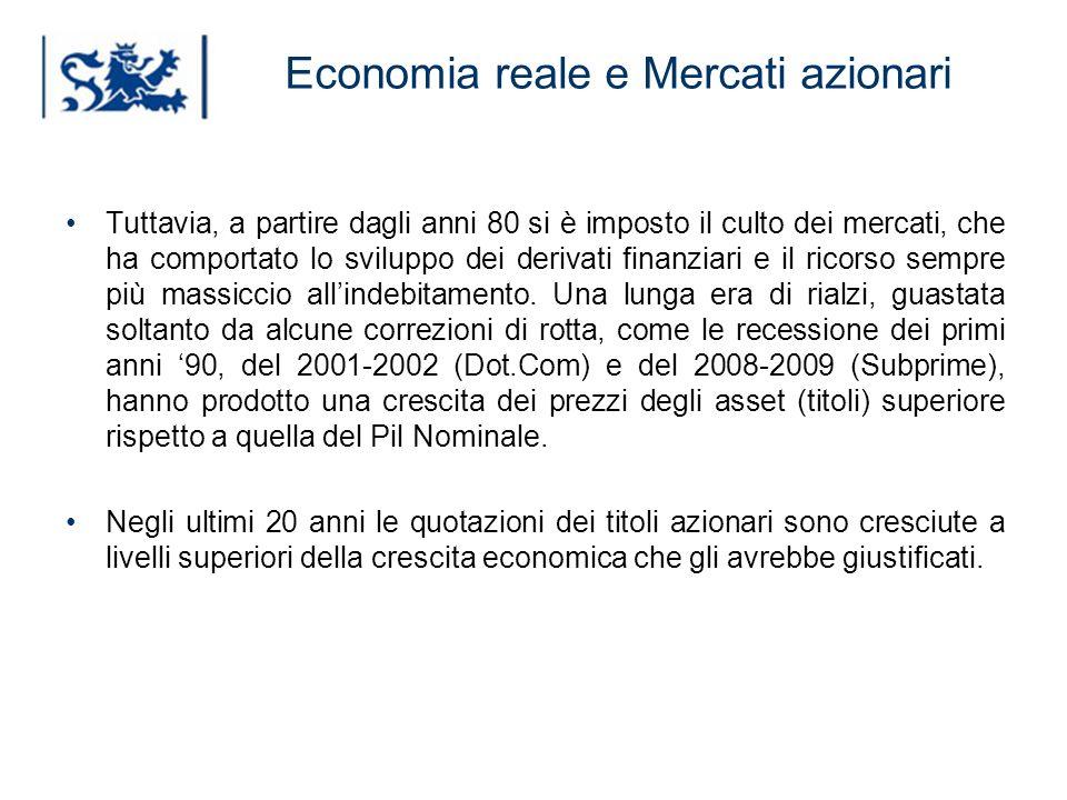 Luxembourg 03-2009 Economia reale e Mercati azionari Tuttavia, a partire dagli anni 80 si è imposto il culto dei mercati, che ha comportato lo svilupp