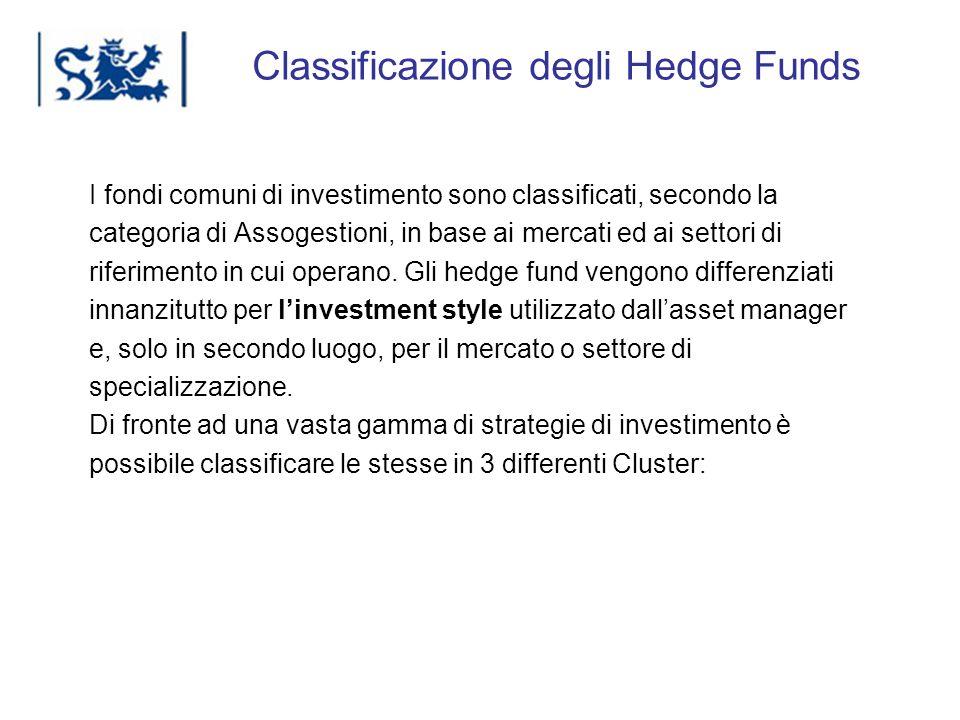 Luxembourg 03-2009 Classificazione degli Hedge Funds I fondi comuni di investimento sono classificati, secondo la categoria di Assogestioni, in base a