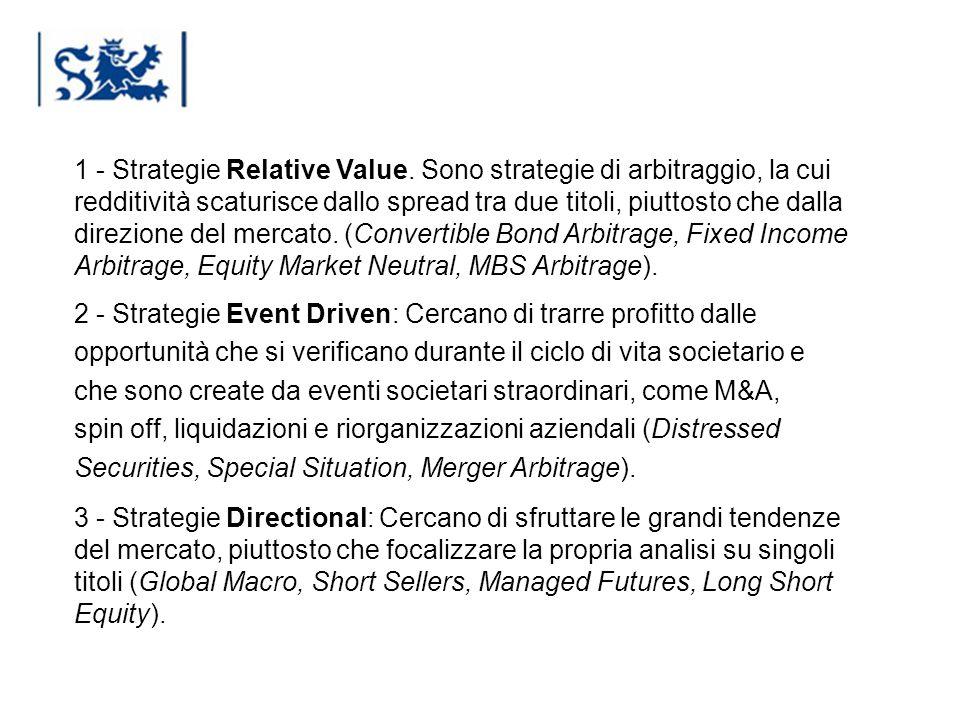 Luxembourg 03-2009 1 - Strategie Relative Value. Sono strategie di arbitraggio, la cui redditività scaturisce dallo spread tra due titoli, piuttosto c