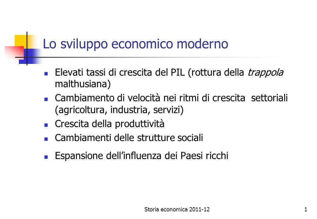 Storia economica 2011-1212 PIL e standard di vita La soddisfazione del consumatore: il problema della qualità della vita.