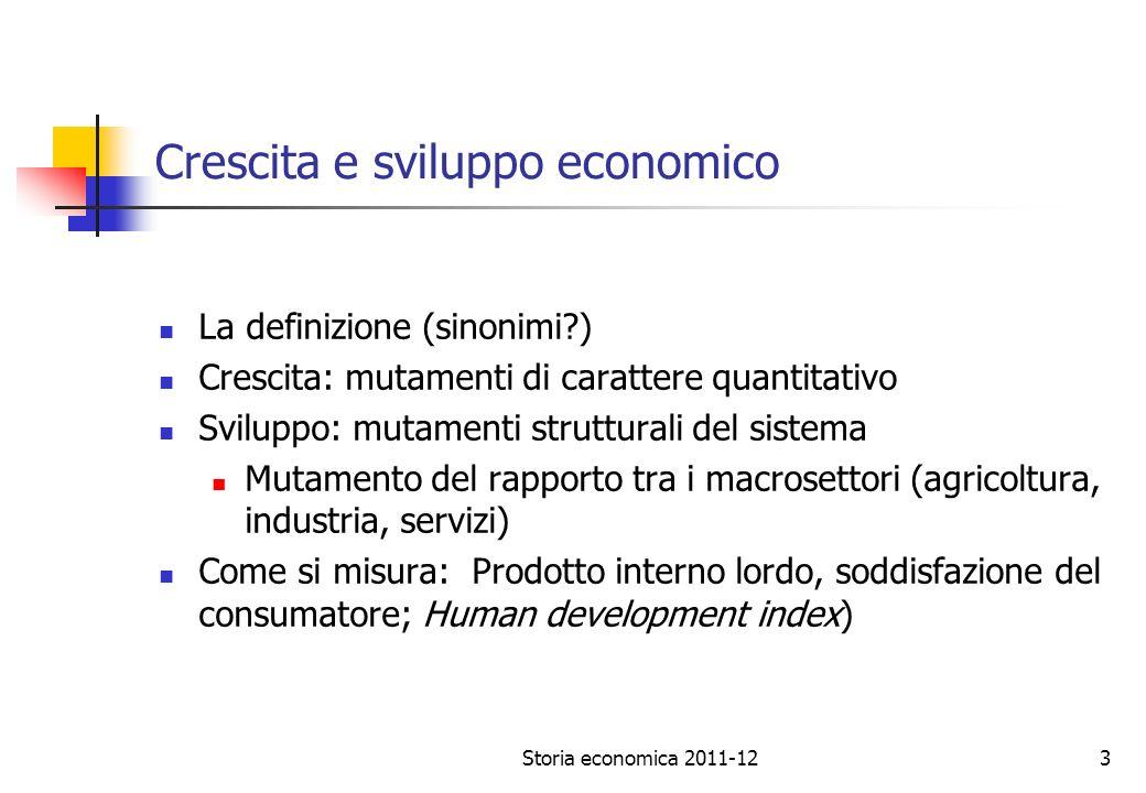 Storia economica 2011-124 Prodotto Interno Lordo (PIL) definizioni: I.