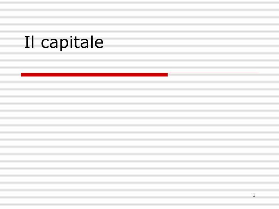 1 Il capitale