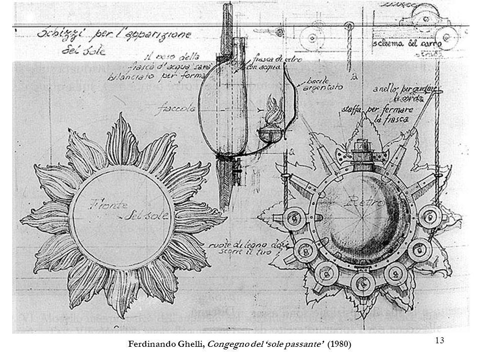 13 Ferdinando Ghelli, Congegno del sole passante (1980)
