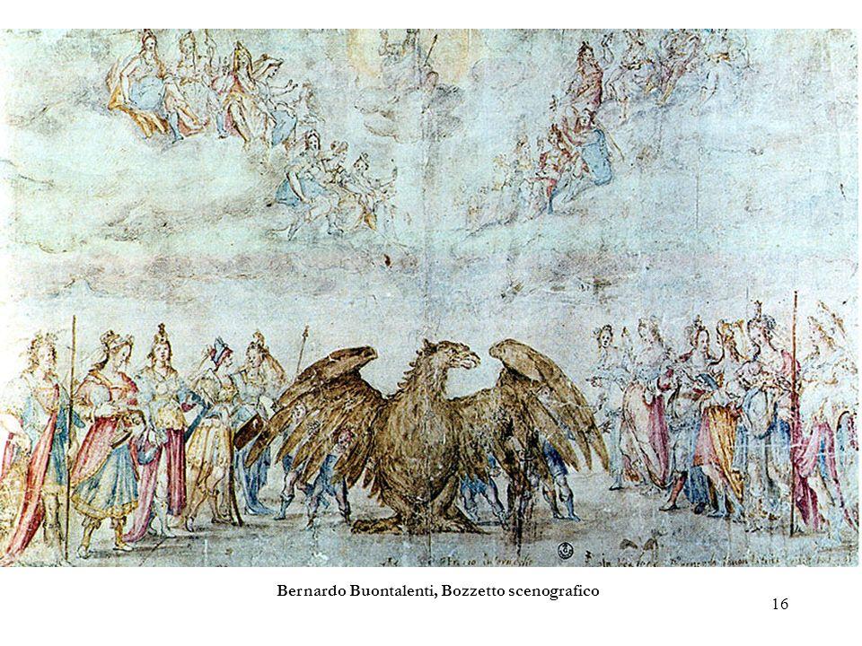 16 Bernardo Buontalenti, Bozzetto scenografico
