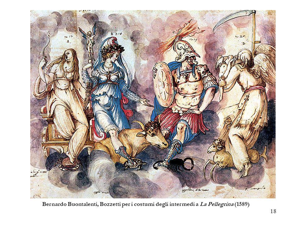 18 Bernardo Buontalenti, Bozzetti per i costumi degli intermedi a La Pellegrina (1589)