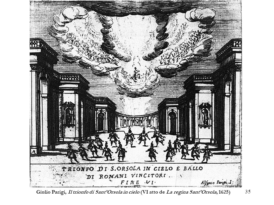35 Giulio Parigi, Il trionfo di SantOrsola in cielo (VI atto de La regina SantOrsola, 1625)