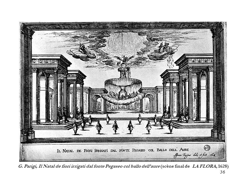 36 G. Parigi, Il Natal de fiori irrigati dal fonte Pegaseo col ballo dellaure (scène final de LA FLORA, 1628)