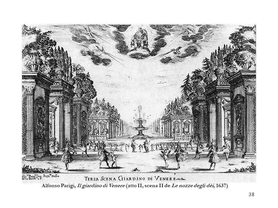 38 Alfonso Parigi, Il giardino di Venere (atto II, scena II de Le nozze degli dèi, 1637)
