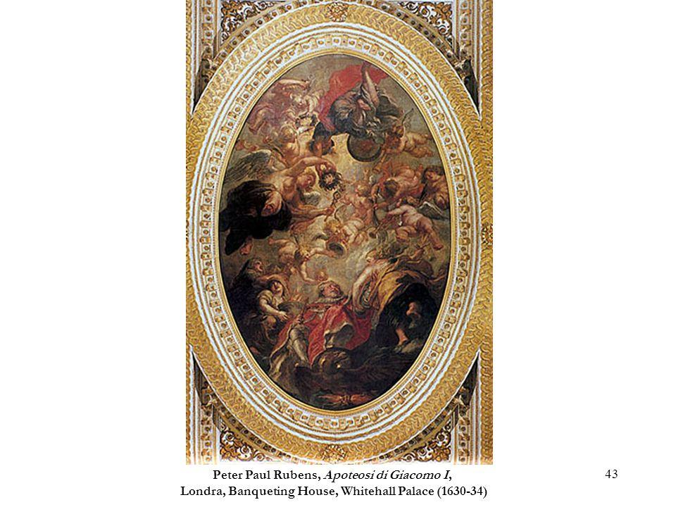 43 Peter Paul Rubens, Apoteosi di Giacomo I, Londra, Banqueting House, Whitehall Palace (1630-34)