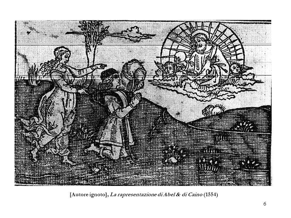 6 [Autore ignoto], La rapresentazione di Abel & di Caino (1554)