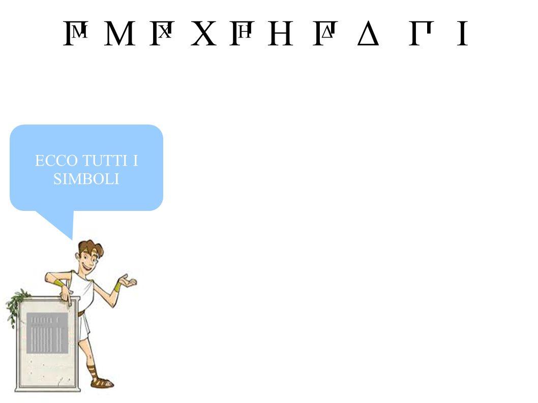 MIHXΔПП Δ П H П X П M ECCO TUTTI I SIMBOLI