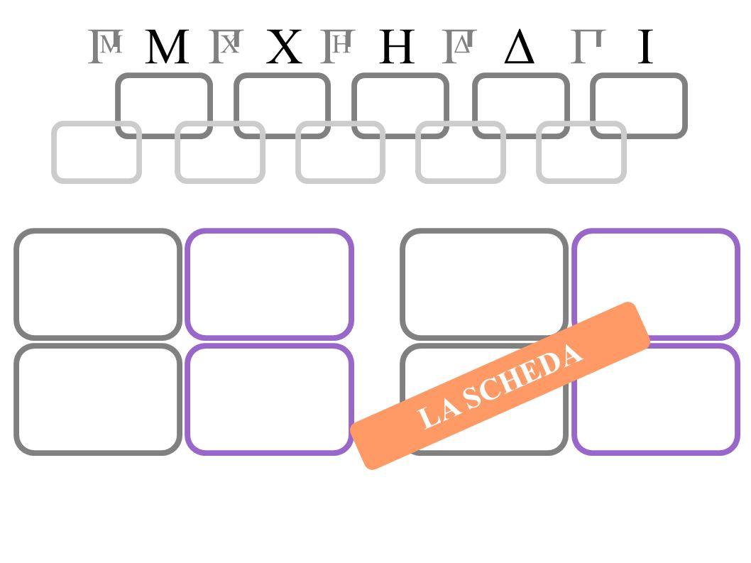MIHXПП Δ П H П X П M Δ LA SCHEDA