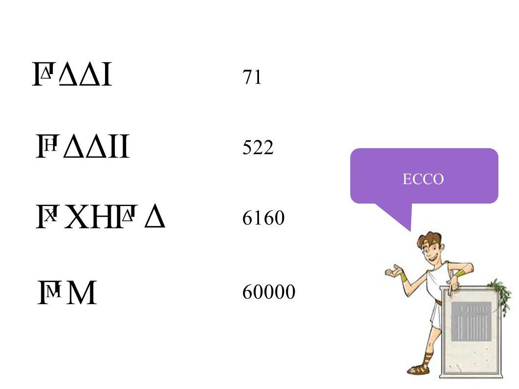 ECCO 71 522 6160 60000 ΔΔI ΔΔII XH M П Δ П H П X Δ П Δ П M