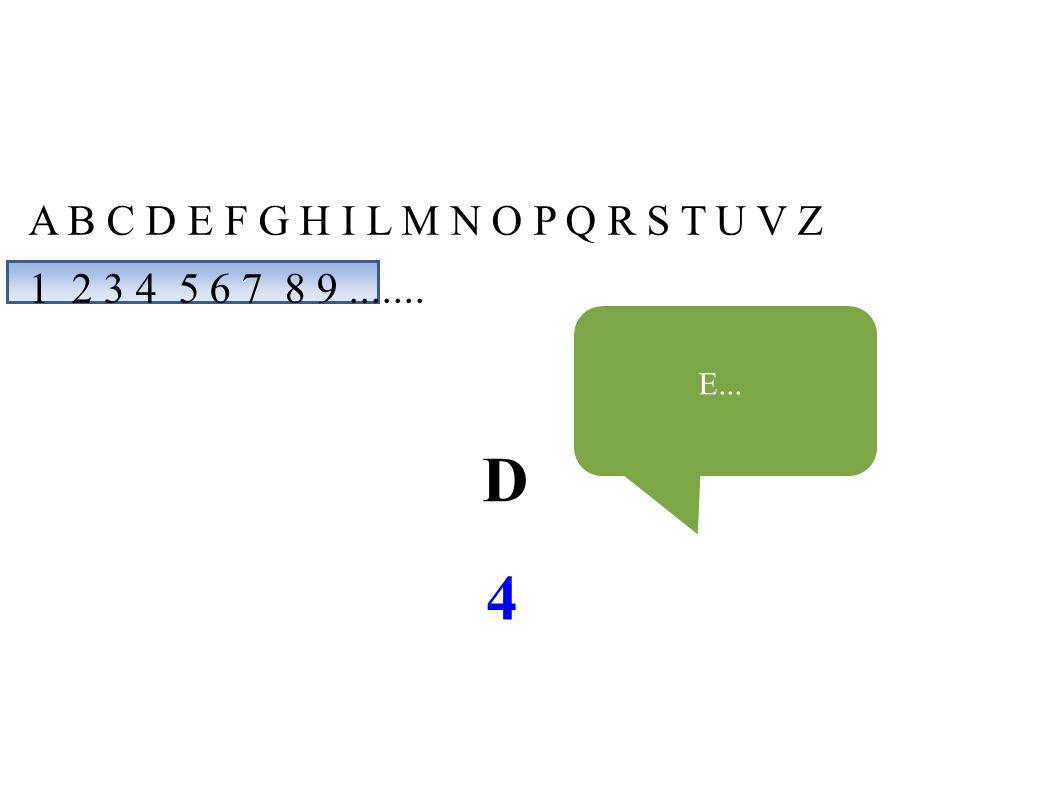A B C D E F G H I L M N O P Q R S T U V Z 1 2 3 4 5 6 7 8 9....... D 4 E...