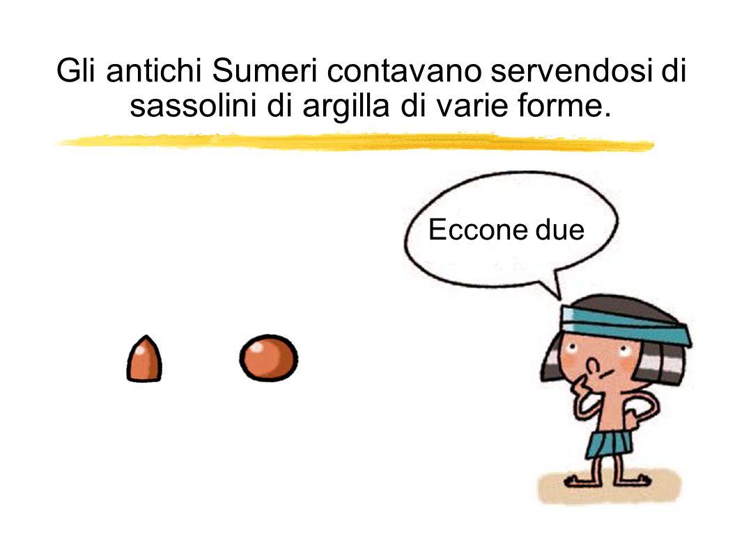Gli antichi Sumeri contavano servendosi di sassolini di argilla di varie forme. Eccone due