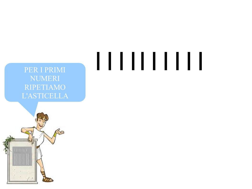 IIIIIIII II PER I PRIMI NUMERI RIPETIAMO L'ASTICELLA