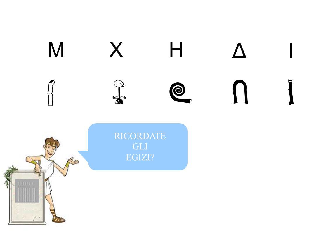 RICORDATE GLI EGIZI? MHX ΔI