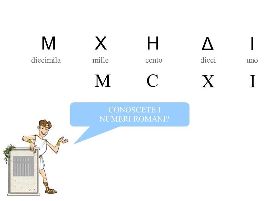 unodiecicento millediecimila CONOSCETE I NUMERI ROMANI? MHX IΔ CM IX