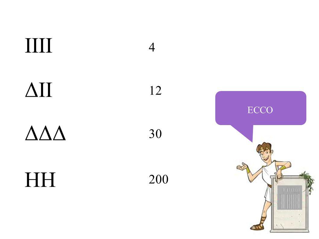 ECCO 4 12 30 200 IIII ΔII ΔΔΔ HH