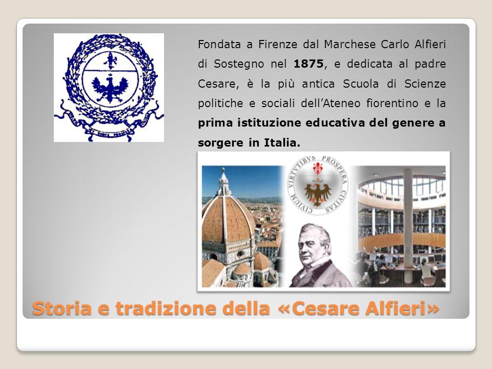 Storia e tradizione della «Cesare Alfieri» Fondata a Firenze dal Marchese Carlo Alfieri di Sostegno nel 1875, e dedicata al padre Cesare, è la più ant