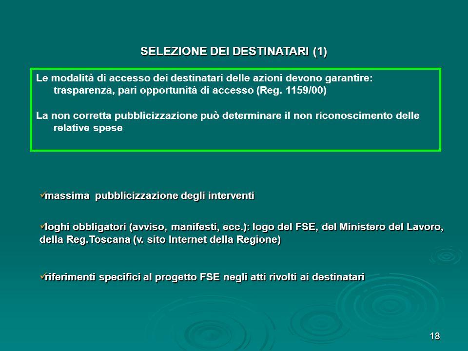 18 massima pubblicizzazione degli interventi massima pubblicizzazione degli interventi loghi obbligatori (avviso, manifesti, ecc.): logo del FSE, del