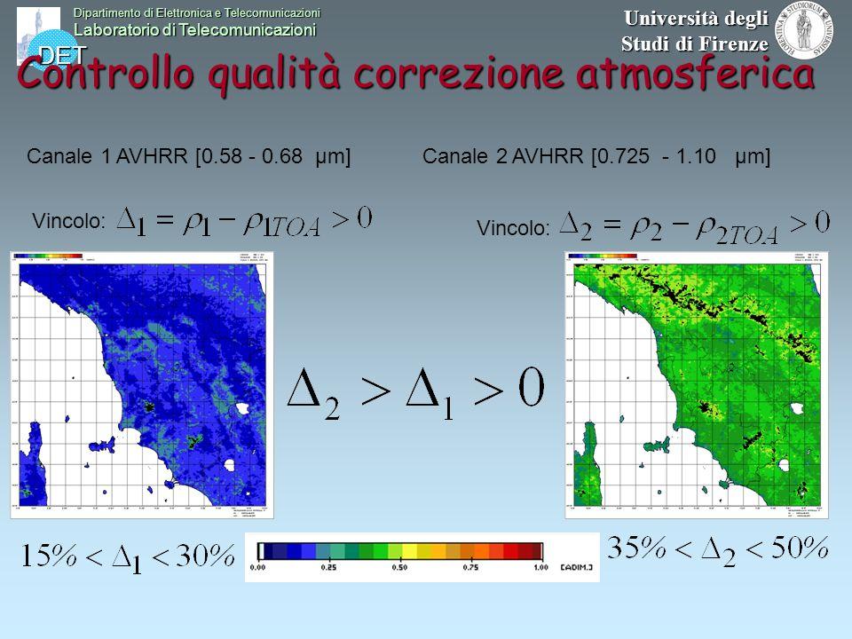 DET Dipartimento di Elettronica e Telecomunicazioni Laboratorio di Telecomunicazioni Università degli Studi di Firenze Controllo qualità correzione at
