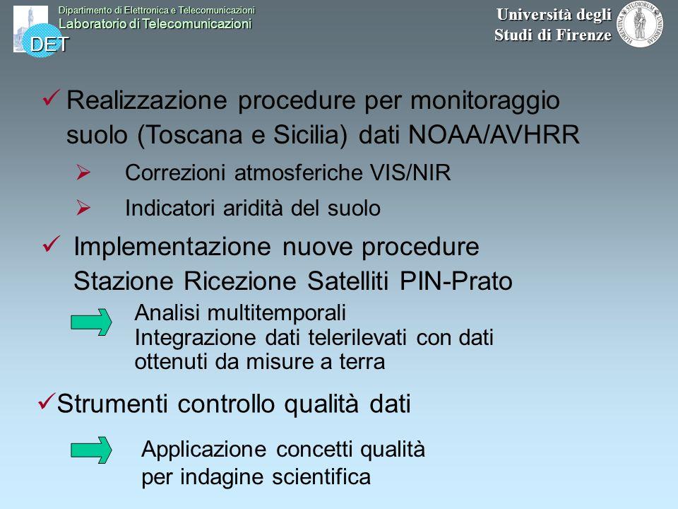 DET Dipartimento di Elettronica e Telecomunicazioni Laboratorio di Telecomunicazioni Università degli Studi di Firenze Conclusioni Realizzazione proce