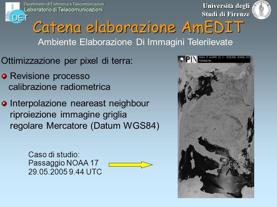 DET Dipartimento di Elettronica e Telecomunicazioni Laboratorio di Telecomunicazioni Università degli Studi di Firenze Catena elaborazione AmEDIT Otti