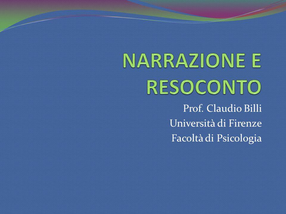 Prof. Claudio Billi Università di Firenze Facoltà di Psicologia
