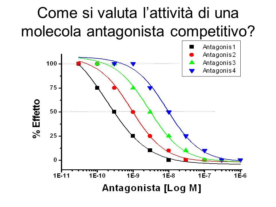 Come si valuta lattività di una molecola antagonista competitivo?
