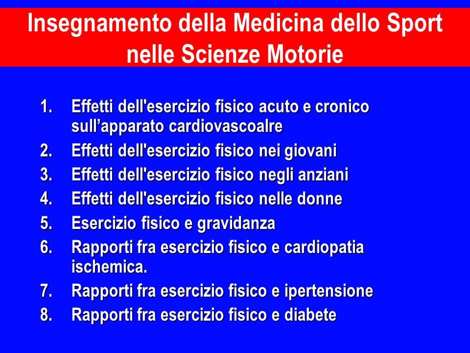 1.Effetti dell'esercizio fisico acuto e cronico sullapparato cardiovascoalre 2.Effetti dell'esercizio fisico nei giovani 3.Effetti dell'esercizio fisi