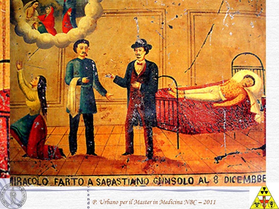 P. Urbano per il Master in Medicina NBC – 2011 Sebastiano Cunsolo soffre di vaiolo, chiaramente visibile dale macchie rosse sulla sua faccia, sul tora