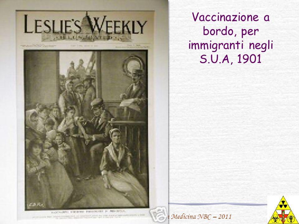 F. Urbano per il Master in Medicina NBC – 2011 Vaccinazione a bordo, per immigranti negli S.U.A, 1901