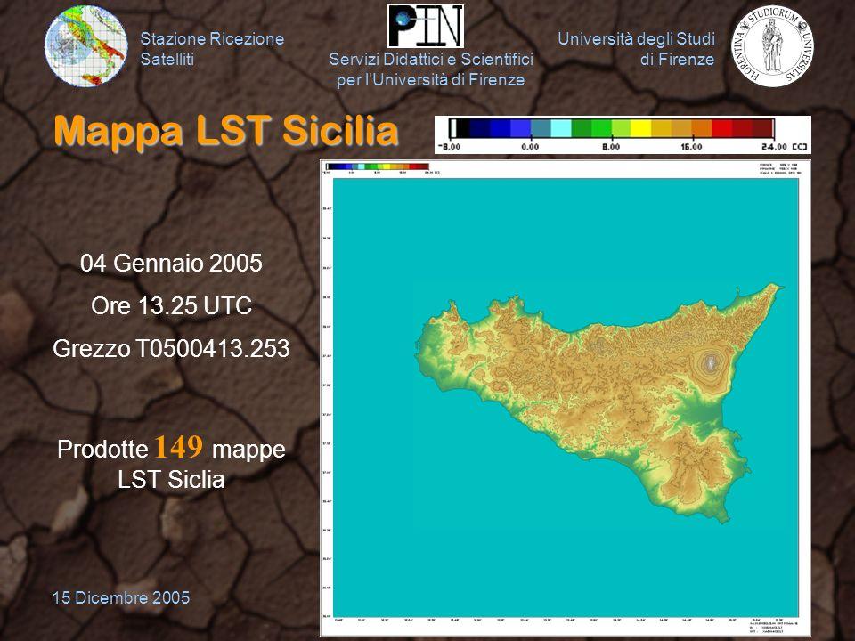 Stazione Ricezione Satelliti Università degli Studi di Firenze Servizi Didattici e Scientifici per lUniversità di Firenze 15 Dicembre 200516 Mappa LST