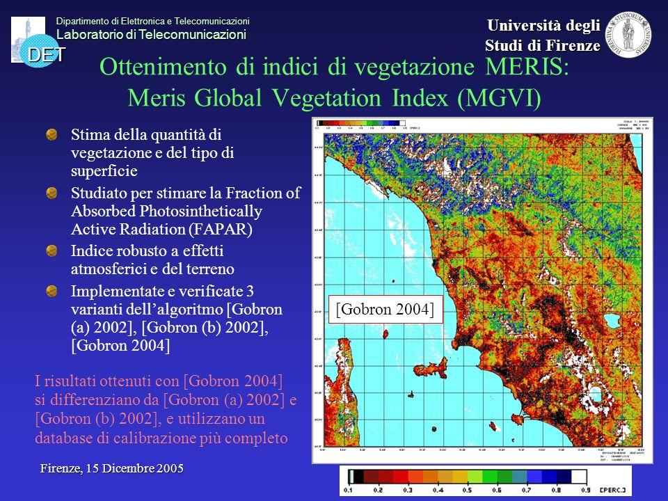DET Dipartimento di Elettronica e Telecomunicazioni Laboratorio di Telecomunicazioni Università degli Studi di Firenze Firenze, 15 Dicembre 2005 Otten