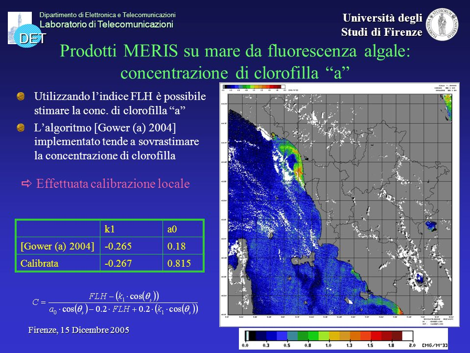DET Dipartimento di Elettronica e Telecomunicazioni Laboratorio di Telecomunicazioni Università degli Studi di Firenze Firenze, 15 Dicembre 2005 Prodo