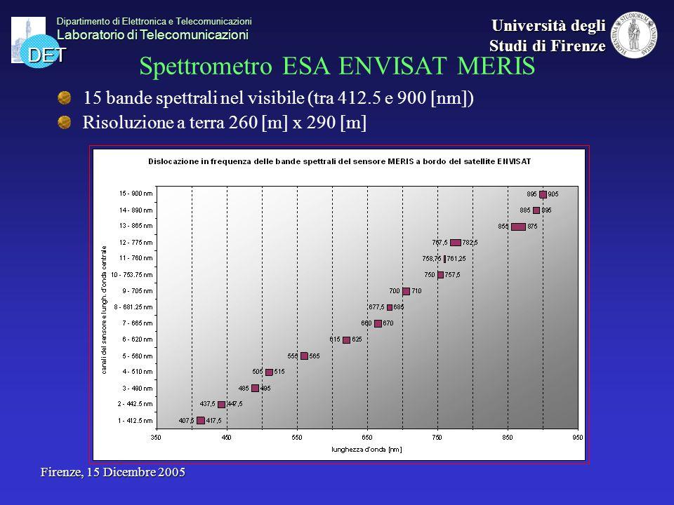 DET Dipartimento di Elettronica e Telecomunicazioni Laboratorio di Telecomunicazioni Università degli Studi di Firenze Firenze, 15 Dicembre 2005 Spett