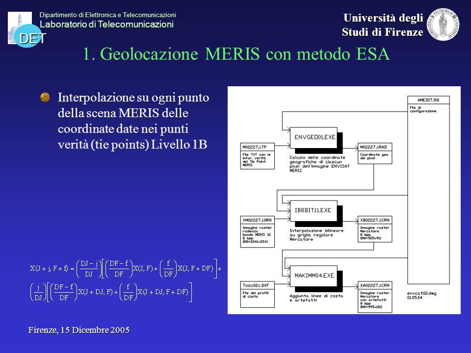 DET Dipartimento di Elettronica e Telecomunicazioni Laboratorio di Telecomunicazioni Università degli Studi di Firenze Firenze, 15 Dicembre 2005 1.