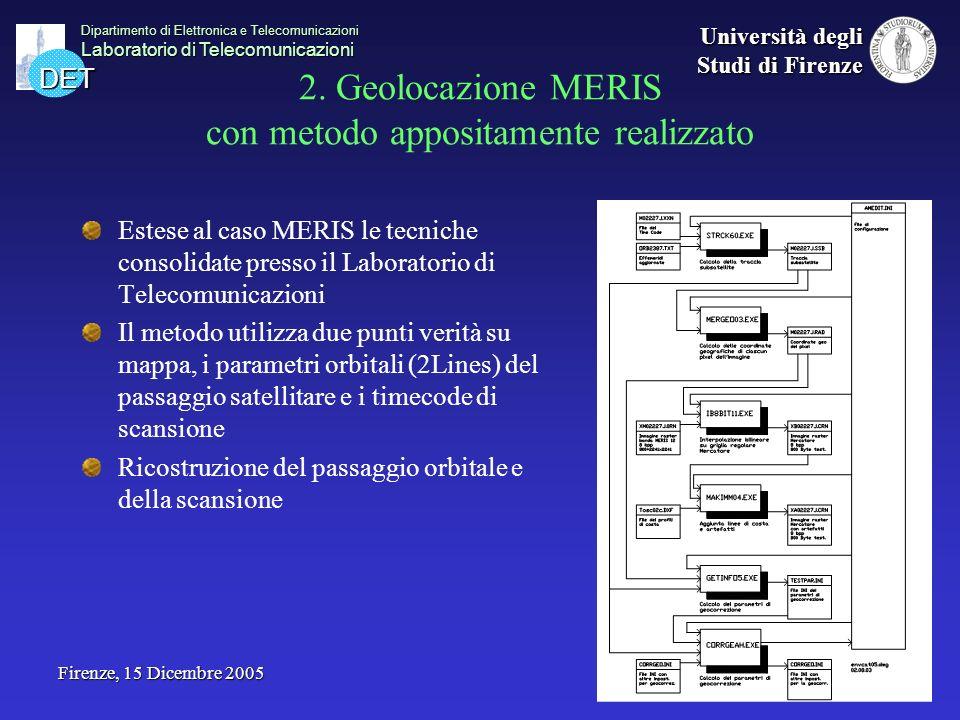 DET Dipartimento di Elettronica e Telecomunicazioni Laboratorio di Telecomunicazioni Università degli Studi di Firenze Firenze, 15 Dicembre 2005 2. Ge